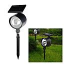 4-LED White Light LED Solar Powered LED Rechargeable Plastic Garden Spotlight (CIS-58090)
