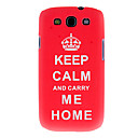 Thermal Transfer Printing Pattern Red Crown Case Cover for Samsung Galaxy S4 I9300