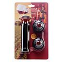 Crimson Wine Vacuum Bottle Plastic Stoppers + Pump