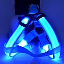 LED Регулируемый нейлоновый света безопасности Harness для животных Собаки (разных цветов, размеров)