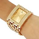 Женская платье Стиль Gold Стальная цепь браслет кварцевые наручные часы (разных цветов)