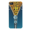Zipper and Letter Printed Pattern Matte Designed PC Hard Case for iPhone 4/4S