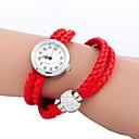 Женская Серебристый Циферблат длинный ремень Кварцевые аналоговые наручные часы с шариком (разных цветов)