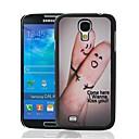Finger Поцелуй Любовь Pattern Пластиковые Жесткий защитный чехол для Samsung Galaxy S4 i9500