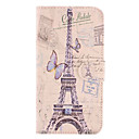 Эйфелева башня и бабочка шаблон PU кожаный с Мягкий чехол и слот для карт Samsung Galaxy S5 I9600