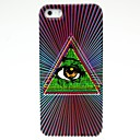 Triangle Eye Pattern Hard Case for iPhone 5/5S