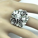 Toonykelly® Vintage Female Flower Crystal Adjustable Ring(1pcs)