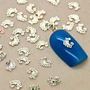 200PCS цветок кружева Форма Slice Золотой Металл Nail Art Decoration