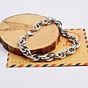 Fashion Men's Silver Multi-layer Stainless Steel Chain Bracelets