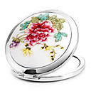 1 Pcs Portable And Fold Ceramet Beautify The Features Cosmetic Mirror