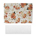 Beautiful Rose Pattern PC Hard Case with Keyboard Cover Skin for MacBook Air