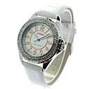 Женская мода Crystal Case PU Группа Кварцевые наручные часы (разных цветов)