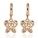 Fashion Double Butterfly Bow Shape Drop Earrings for Women ER0186