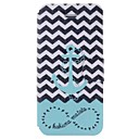 Cartoon Ships Anchors Pattern Full Body Case with Card Slot for iPhone 5/5S
