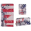 Design of The Statue of Liberty PU Full Body Case with Card Slot for HTC Desire 310