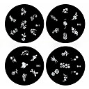 1PCS Nail Art Stamp Stamping Image Template Plate B Series NO.41-44(Assorted Pattern)