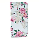 For HTC Case Card Holder / Wallet / with Stand / Flip Case Full Body Case Flower Hard PU Leather HTC