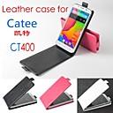 Горячая продажа 100% искусственная кожа флип кожаный чехол для Catee CT400 вверх и вниз Smartphone 3-Color