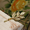 Three-dimensional Golden Leaf Retro Hairpins