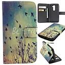 Осень Птица шаблон PU кожаный чехол с подставкой и слот для карт LG G2
