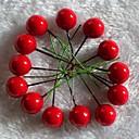 20PCS Ёлочные украшения пластмассы Рождество красные фрукты