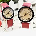Пары корейских студентов Ретро Любители пояс Кварцевые часы (разных цветов)
