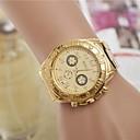 Женская мода Стразы стальной ленты кварцевые наручные часы (разных цветов)