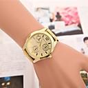 Женские золотые Круглый Дело сплава группы Кварцевые Fashion Часы
