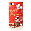 Симпатичные Pattern Снеговик PC Back чехол для iPhone 4 / 4S
