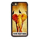 Персонализированные Телефон Case - Птица и слон Дизайн металлический корпус для iPhone 5C