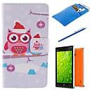 Мультфильм Сова Дизайн PU Кожаный Полный Дело Корпус с Стилус, Защитная пленка и Мягкий чехол для Nokia Lumia 930