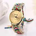Женщины большой круг Наберите Национальный Ручное Вязание Марка Luxury Lady Часы CD-275