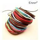 Eruner®Multicolor Fabric Leather Bracelet(Random Color)