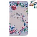 Пион Цветы Pattern PU кожаный чехол для всего тела с пыле Разъем для Sony Xperia М2