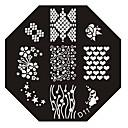 Ногтей штамп штамповка изображения шаблона плиты серии D № 11