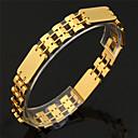 U7 Широкий Часы браслет-цепочка 18K Real Gold / Platinum покрытием Женщины Мужчины ювелирные изделия браслет Простой