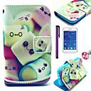 Шаблон Cotton Candy ПУ кожаный чехол с Anti-Dust Разъем и стилус и пленка для Samsung Galaxy Young 2 G130