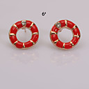 European  Fashion Pop Oil Series 10 Earring Stud Earrings Wedding/Party/Daily/Casual 2pcs (Color random delivery)