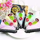 Kuchen-förmigen Handtuch gefälschte Dessert Handtuch Dekoration Hochzeit favorisiert (gelegentliche Farbe)