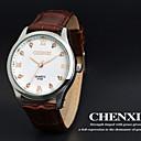 CHENXI Мужская платье Часы Бизнес Дизайн коричневый кожаный ремешок