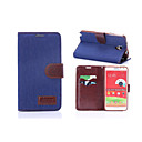 Denim PU Leather Full Body Cases Phone Protective Case with Card Bag Samsung Galaxy Note 3 Lite