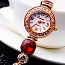 Женская Элитный Тренд Круглый циферблат Алмазный Алмазный Группа моды Кварцевые часы (разных цветов)