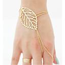 Женщины браслет Мода Европейский Стиль браслет кольцо листьев