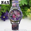 Женская мода Простота сплав кварца Цветы аналоговые наручные часы