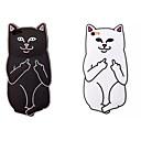 Один-палец мультфильм Cat Protetive ТПУ-Крытого чехол для iPhone 5 / 5S