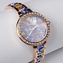 2015 uusi keramiikka metalliseos ranneke naisten katsella kukka linjat kuvio monivärinen arkinen kvartsikello kello