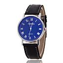 Unisex Wrist Watch Geneva Silver Ring Blue Dial With Roman Scale Quartz Watch PU(Assorted Colors)