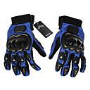 Gants de moto Doigt complet Cuir / Coton / Nylon / Maille / ABS M / XL Bleu