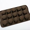 Silikon-Schokoladenform sogar 15 Löcher Blumen Silikonform Schokoladenkuchen Gitter d-308 5pcs