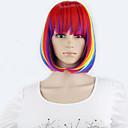 synthetische kurze Perücken 1pc volle Spitze gerade bob Perücken sieben Farben billig Schönheit Cosplay Frauen schnelles Verschiffen